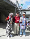Bob with Race Fans --- Indianapolis Motor Speedway
